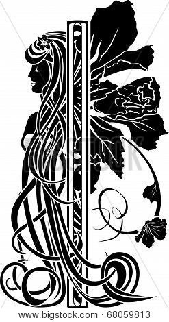 Decorative Element In The Art Nouveau Style