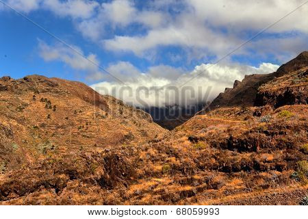 mountain landscape of the island of La Gomera. Canary Islands. Spain