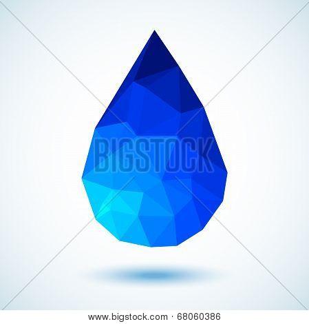 Geometric Blue Drop