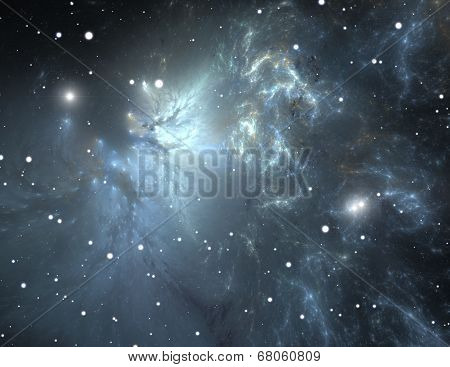 Space With Nebula And Stars