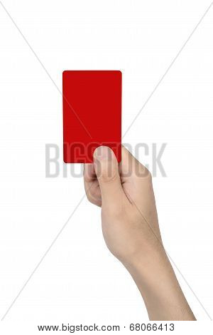 Hand Hold A Blank Card
