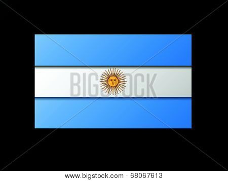 Modern style Argentinean flag