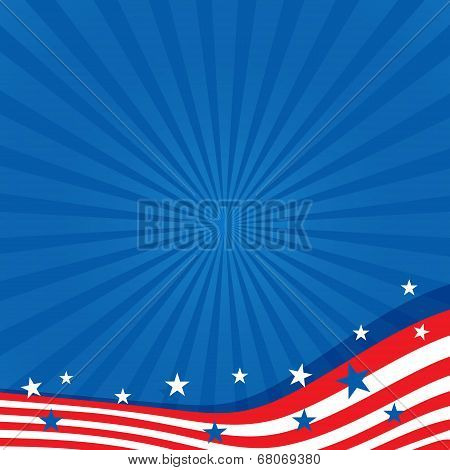 Background in colors of the American flag.