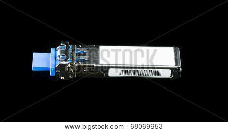 Optical Gigabit Sfp Module For Network Switch Isolated