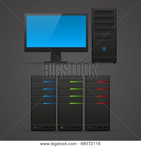 Object computer monitor server