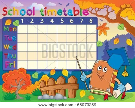 School timetable composition 3 - eps10 vector illustration.