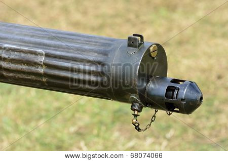 Vintage machine gun Barrel