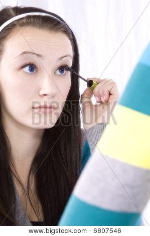 Teenager Putting On Make Up