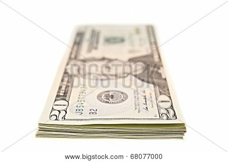 Bundle of twenty dollar bills