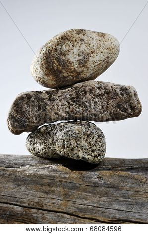 Three Stones On Each Other