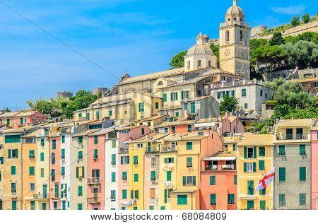 Beautiful Ligurian coast of Italy .Portovenere. Cinque Terre.