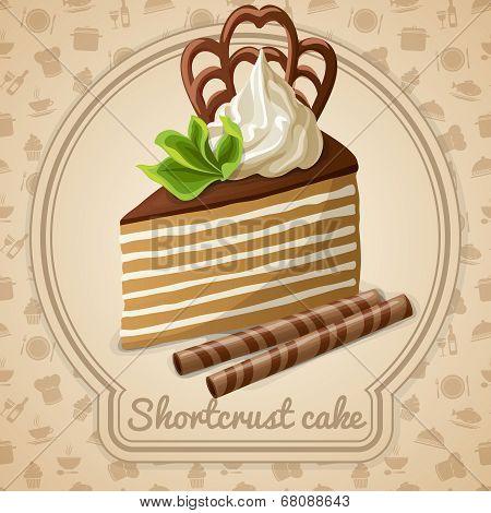 Shortcrust cake label