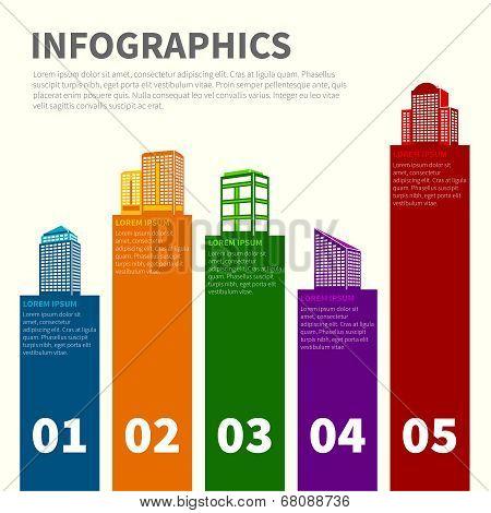 Building infographic set