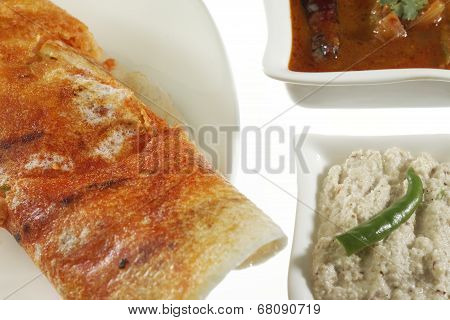 Mysore Masala Dosa Stuffed With potato Masala.