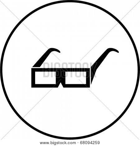 3d glasses symbol