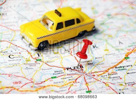 Pilsen, Czech Republic  Map Taxi
