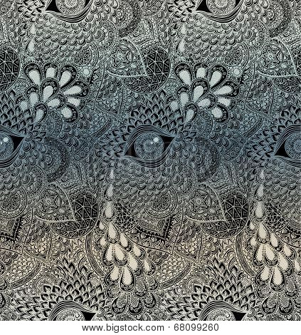 Seamless Vector Mandala Pattern