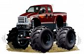 foto of monster-truck  - Cartoon Monster Truck - JPG