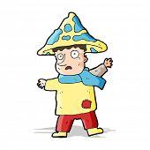 foto of magical-mushroom  - cartoon magical mushroom man - JPG