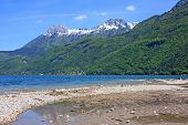 stock photo of annecy  - shores of Lake Annecy in the spring - JPG
