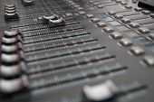 Постер, плакат: Sound Mixing Desk