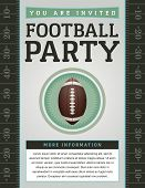 foto of football  - An American Football flyer design perfect for tailgate parties football invites etc - JPG