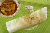 picture of garam masala  - Masala Dosa Stuffed With potato Masala, Chutney And Sambhar