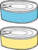 stock photo of generic  - Generic blank pet food containers over white - JPG
