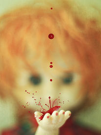stock photo of chucky  - focus and splatter  - JPG