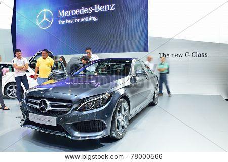 Nonthaburi - December 1: New Mercedes Benz C-class Car Display At Thailand International Motor Expo