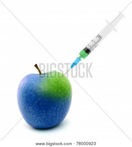 Syringe Stuck In An Apple