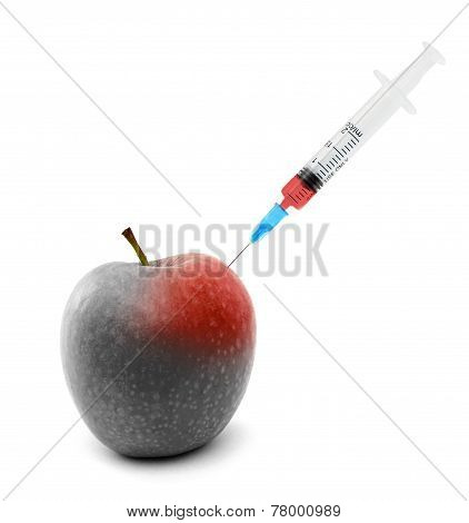 Syringe Stuck In An Apple