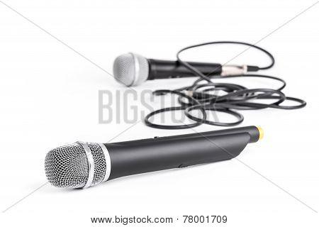 Retro And Modern Wireless Microphone
