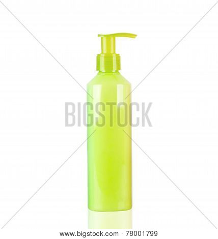 Yellow Neon Lotion Bottle