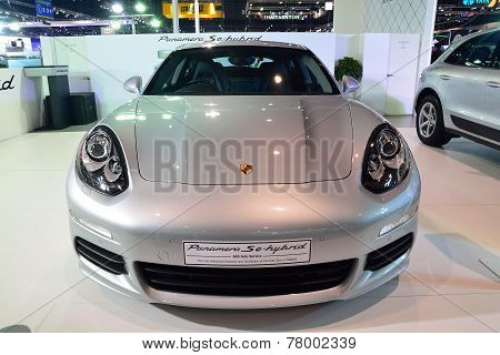 Nonthaburi - December 1: Porsche Panamera Se Hybrid Car Display At Thailand International Motor Expo