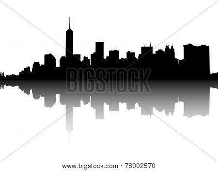 Silhouette Of Manhattan.