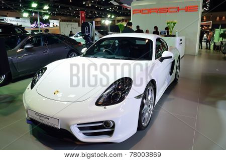 Nonthaburi - December 1: Porsche Cayman Car Display At Thailand International Motor Expo On December