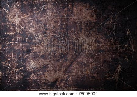Old Scratched Black Dark Background Texture
