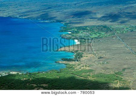 Big Island aerial shot - Hapuna Beach