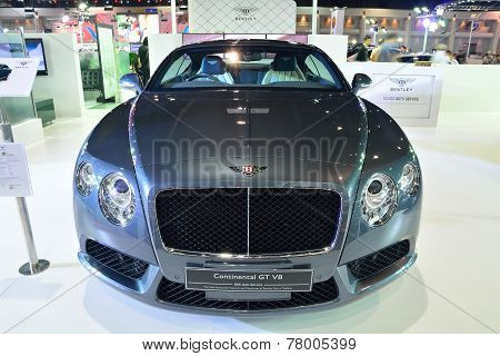 Nonthaburi - December 1: Bentley Continental Gt V8 Car Display At Thailand International Motor Expo
