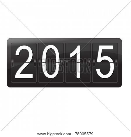 New Year Counter, Vector Illustration