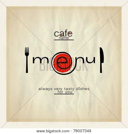 Cafe menu modern design.