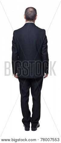 portrait of senior businessman back view