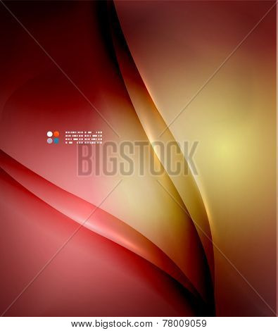 Red abstract lines background, modern template