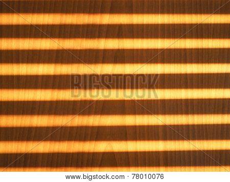 Sunlight Through Shutter