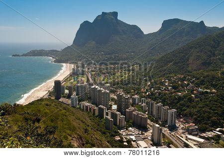 Rio de Janeiro Coast with Mountains