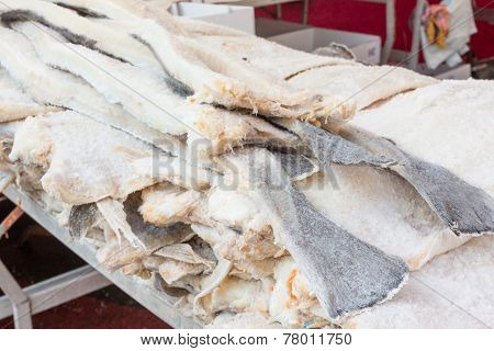 Dried Cod Fish Salted Codfish Stacked
