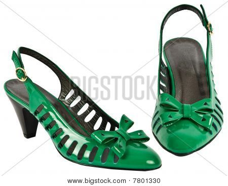 Green High Heeled Shoe