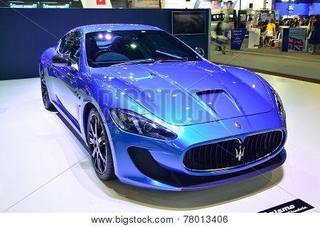 Nonthaburi - December 1: Maserati Granturismo Car Display At Thailand International Motor Expo On De