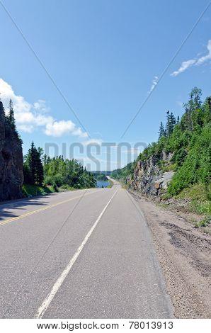 Transcanada Highway Along Superior Lake Shore